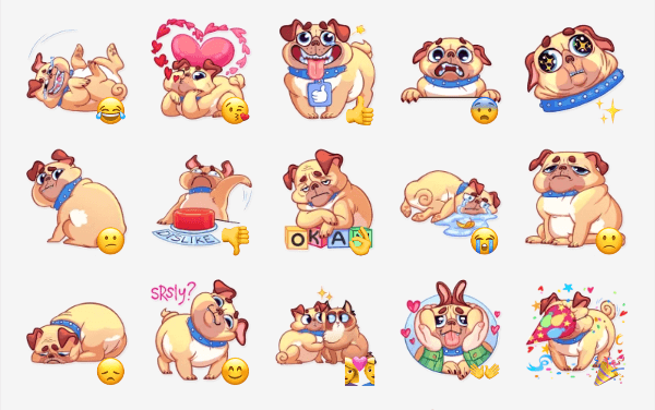 Pug Ford Sticker pack