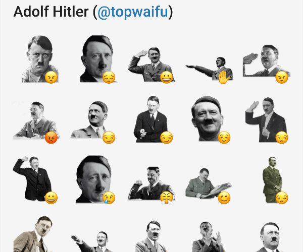 hitler whatsapp sticker
