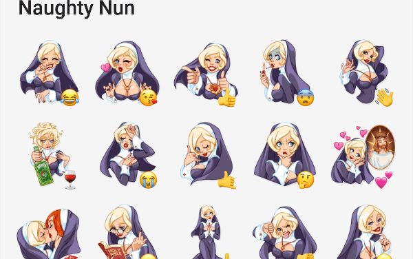 Naughty Nun Sticker Pack