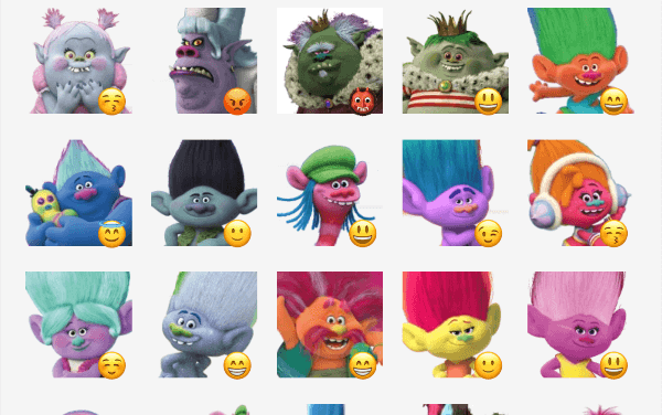 Trolls Sticker Pack