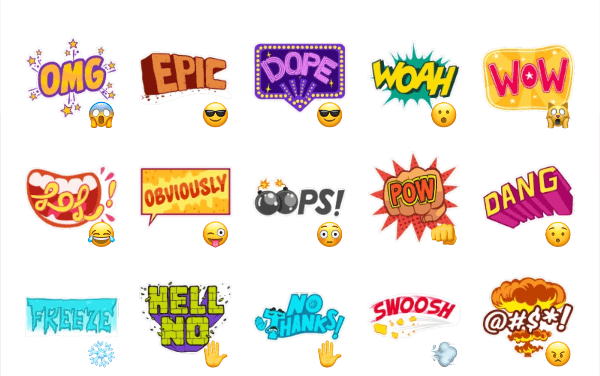 Comic Expressions Sticker Pack