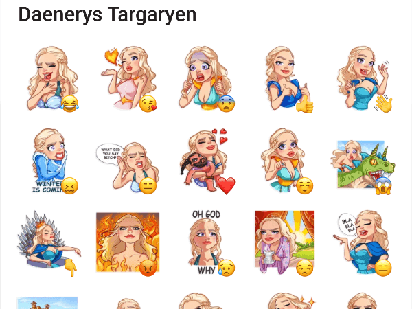 Telegram Stickers daenerys Targaryen