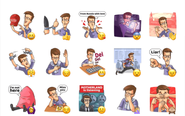 Edward Snowden Sticker Pack