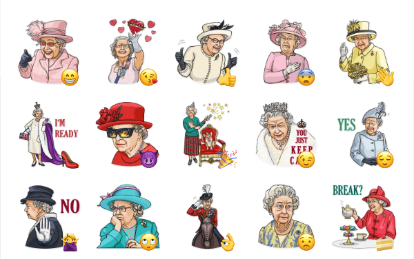Queen Elizabeth II Sticker Pack