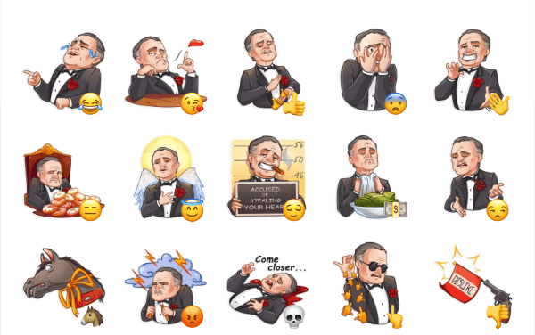 Don Corleone Sticker Pack