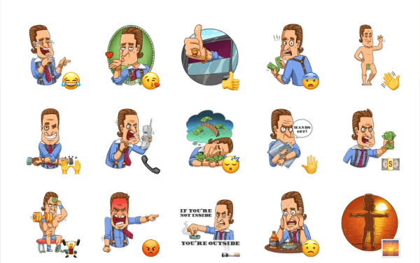 Gordon Gekko Sticker Pack