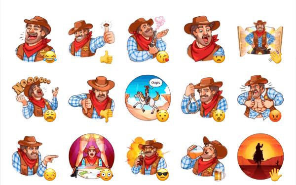 Sheriff Adam Sticker Pack