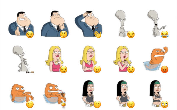 American Dad Sticker pack