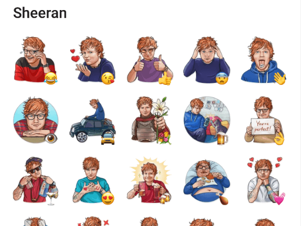 Ed Sheeran Telegram Stickers pack