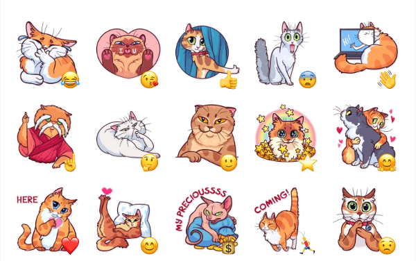 Meme Cats Sticker Pack