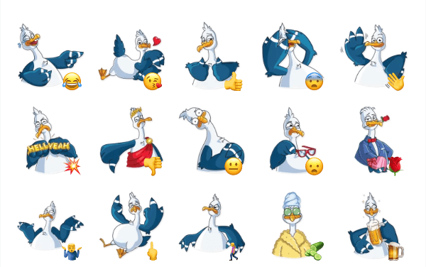 Mr. Gull Sticker Pack
