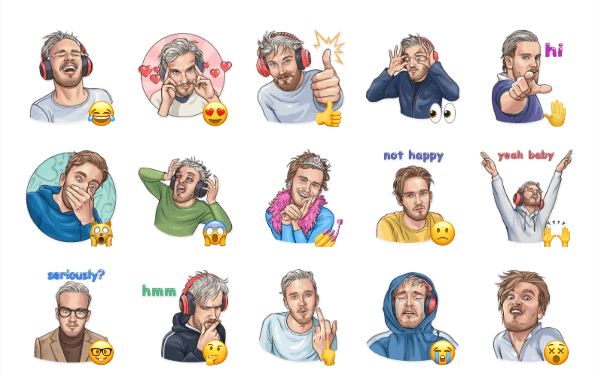 PewDiePie Sticker Pack