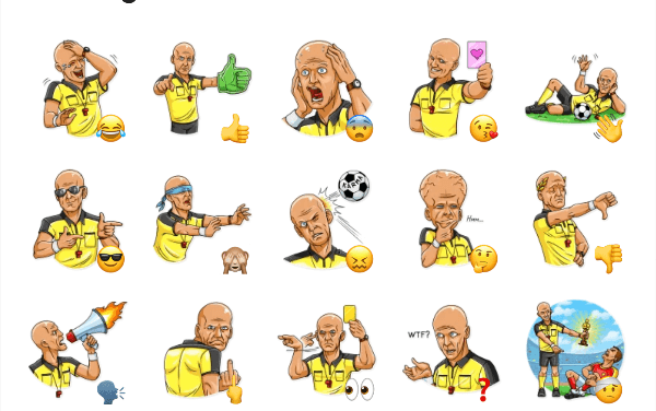 Pierluigi Collina Sticker Pack
