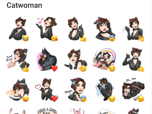 Catwoman Telegram Sticker Pack