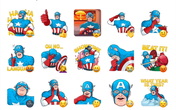 Classic Captain America Sticker Pack