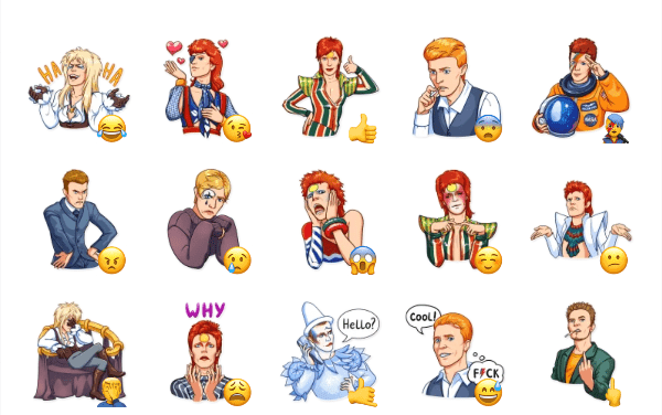David (Robert Jones) Bowie Sticker Pack
