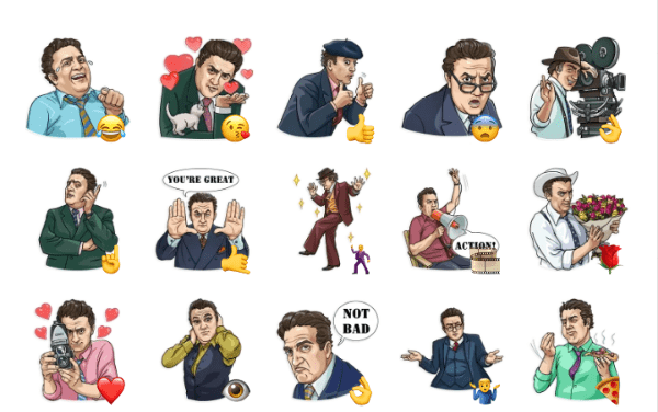 Federico Fellini Sticker Pack