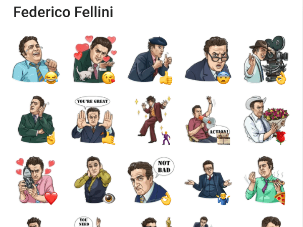 Federico Fellini Telegram Stickers
