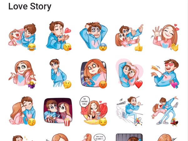 Love Story Sticker pack