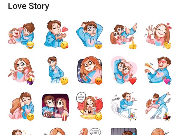 Love Story Sticker pack