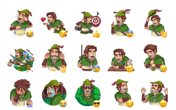 Robin Hood Sticker Pack