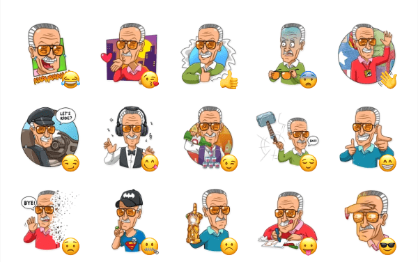 Stan Lee Sticker Pack