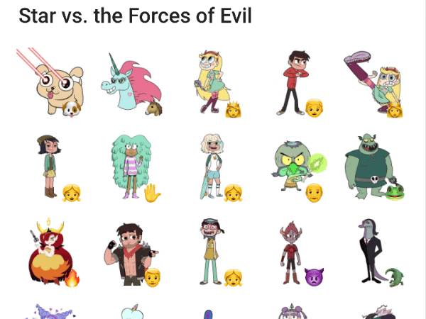 star vs the forces of evil sticker pack telegram stickers hub