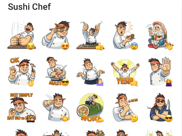 Sushi chef sticker pack for telegram