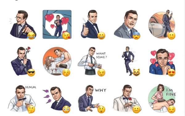 Agent 007 Sticker Pack