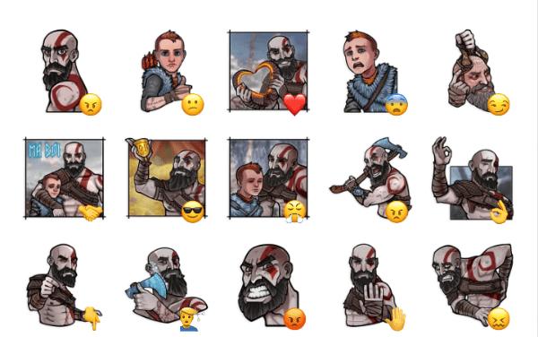 God of War Sticker Pack