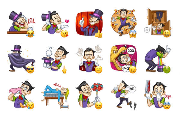 Marcus the Magician Sticker Pack