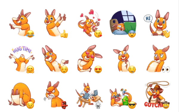 Mr Kangaroo Sticker Pack