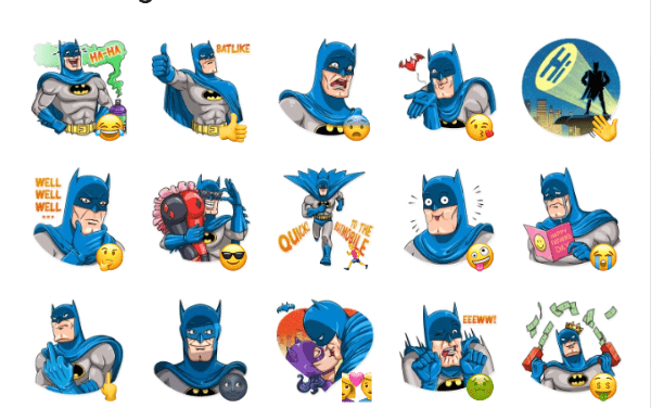 Batman Comics Sticker Pack
