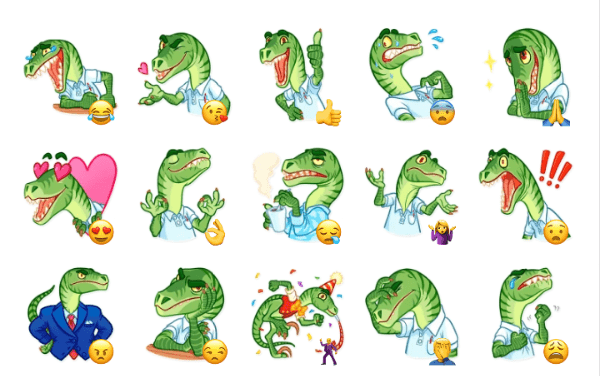 Velociraptor Sticker Pack