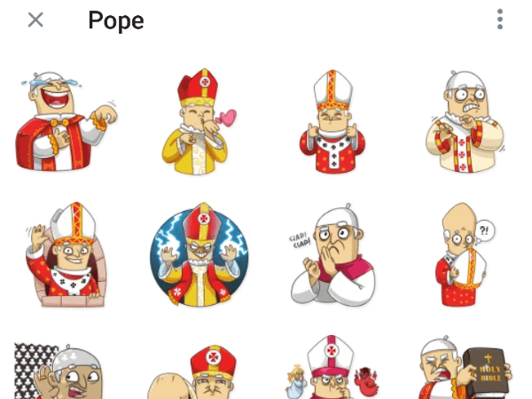 Pope Telegram Sticker