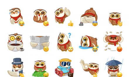 Polar Owl Sticker Pack
