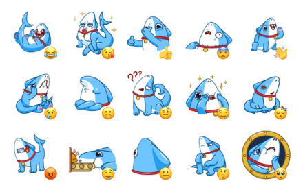 Sharkpup Sticker Pack