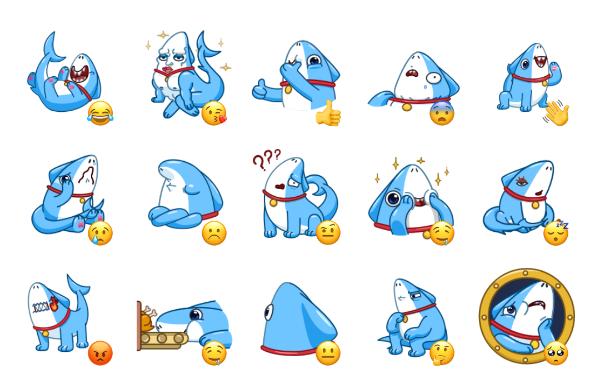 Sharkpup Sticker Pack
