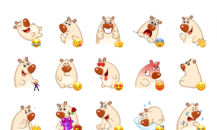 Chestnut the Bear Sticker Pack