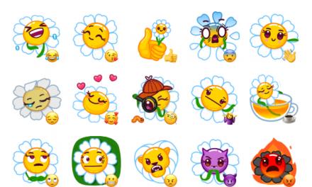 Daisy Romashka Sticker Pack