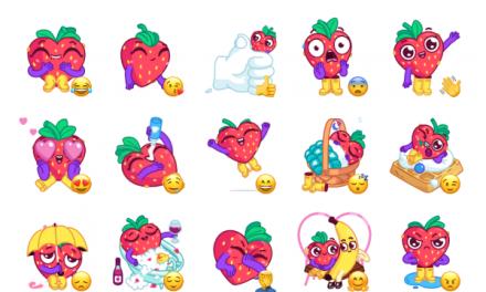 Sweety Strawberry Sticker Pack