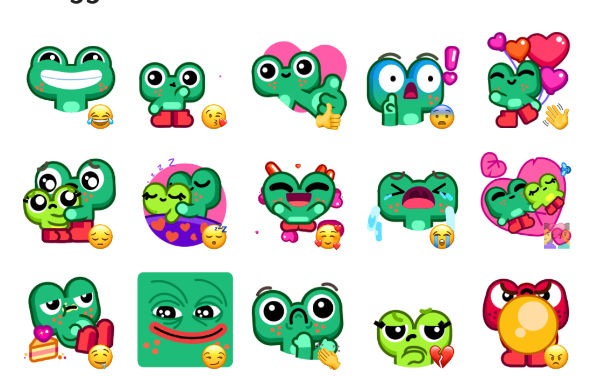 Froggo In Love Sticker Pack
