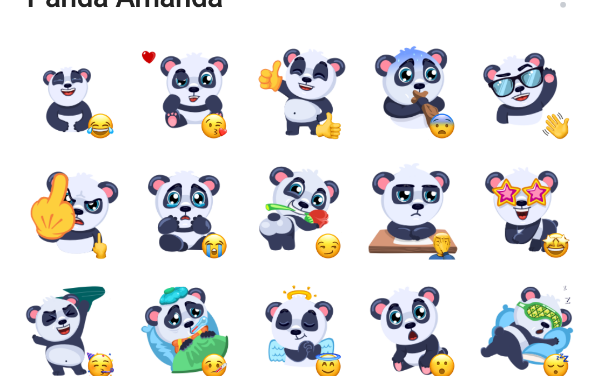 Panda Amanda Sticker Pack