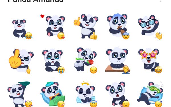 Panda Amanda Sticker Pack