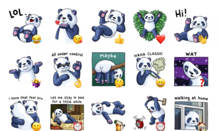 Lazy Panda Sticker Pack