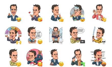 Quentin Tarantino Sticker Pack