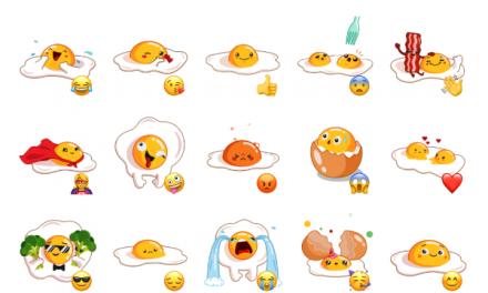 Egg Yolk Sticker Pack