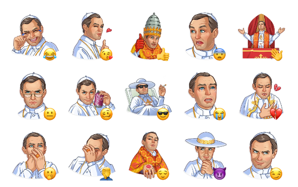 The Young Pope Sticker Pack