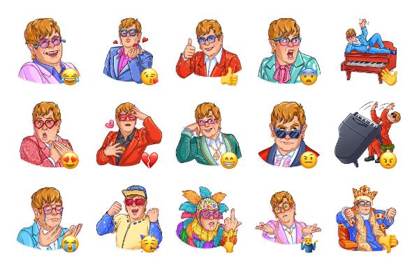 Elton John Sticker Pack