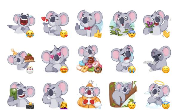 Koala Chuck Sticker Pack